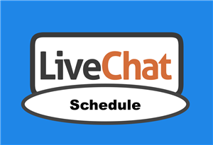 Live chat schedule