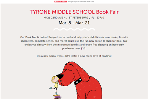 We're having a book fair to benefit our library!
