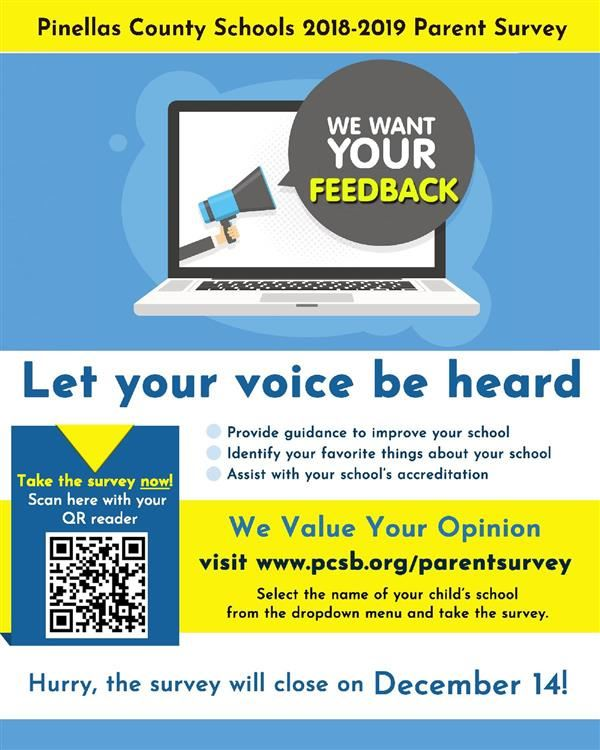 Pinellas County School's 2018-2019 Parent  Survey