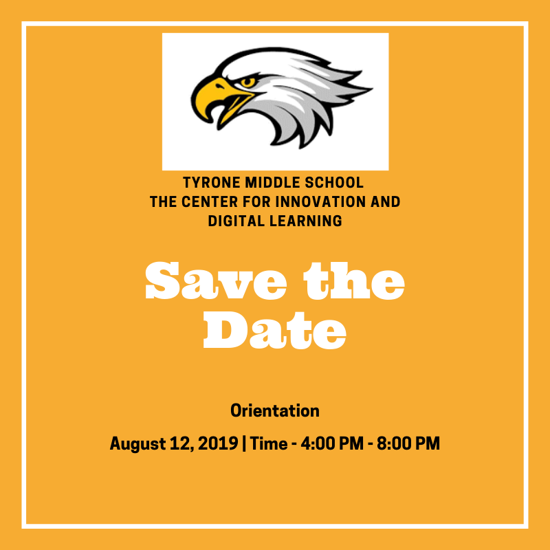 SAVE THE DATE! 6th Grade Orientation