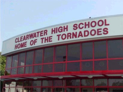 Clearwater logo on outside of gym