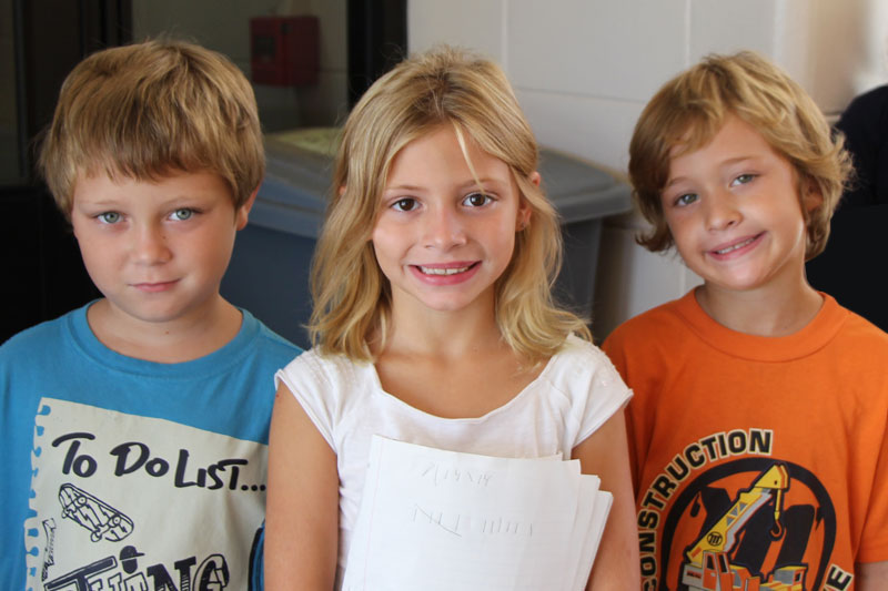 photo of 3 elementary students