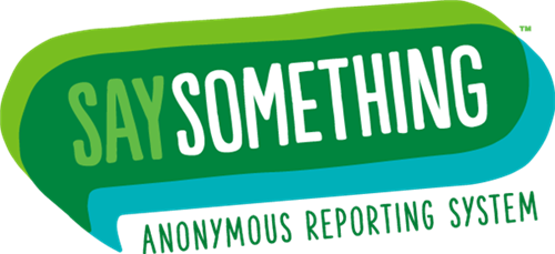 Say Something-Anonymous Reporting System Logo