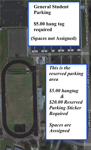 Student Parking Lot Map