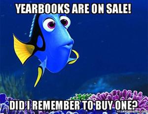 dory promotes yearbook