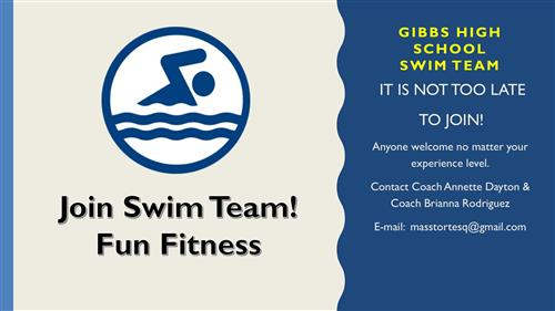 Join the swim team! It is not too late!