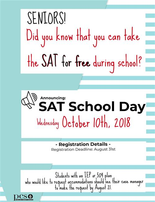 FREE SAT for Seniors flyer