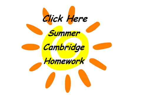 Summer Cambridge Homework