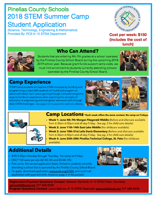 2018 STEM Summer Camp