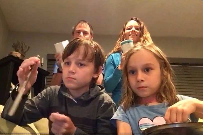 Family Joins in on Music assignment!