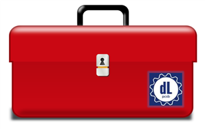 Red toolbox with digital learning logo