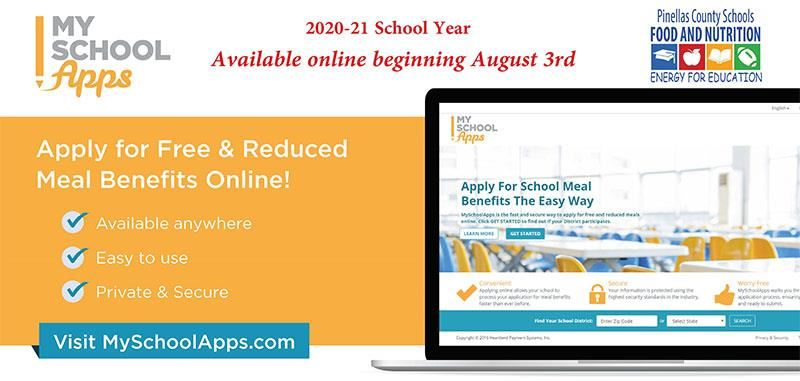My School Apps - Apply for free or reduced meal benefits online! visit MySchoolApps.com
