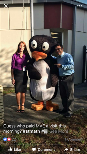 Mr. Ovalle and Ms. Wike welcome Jiji