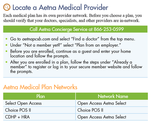 Locate a Aetna Medical Provider