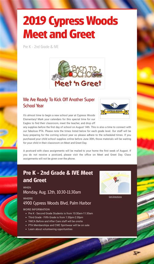 Pre K meet and greet