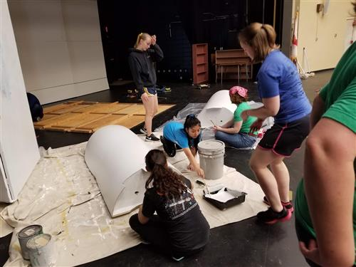 Set Building for the The Little Mermaid