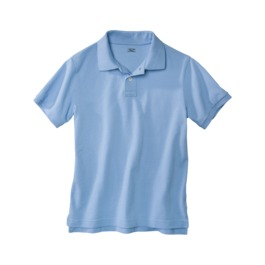 uniform blue polo
