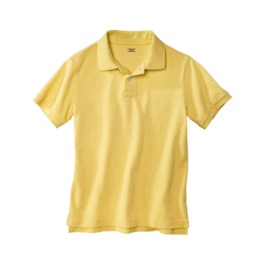 uniform yellow polo