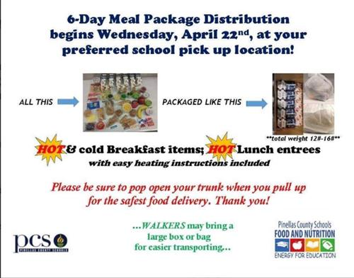 6 day meal package