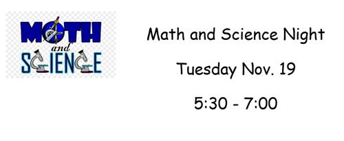 Math and Science Night
