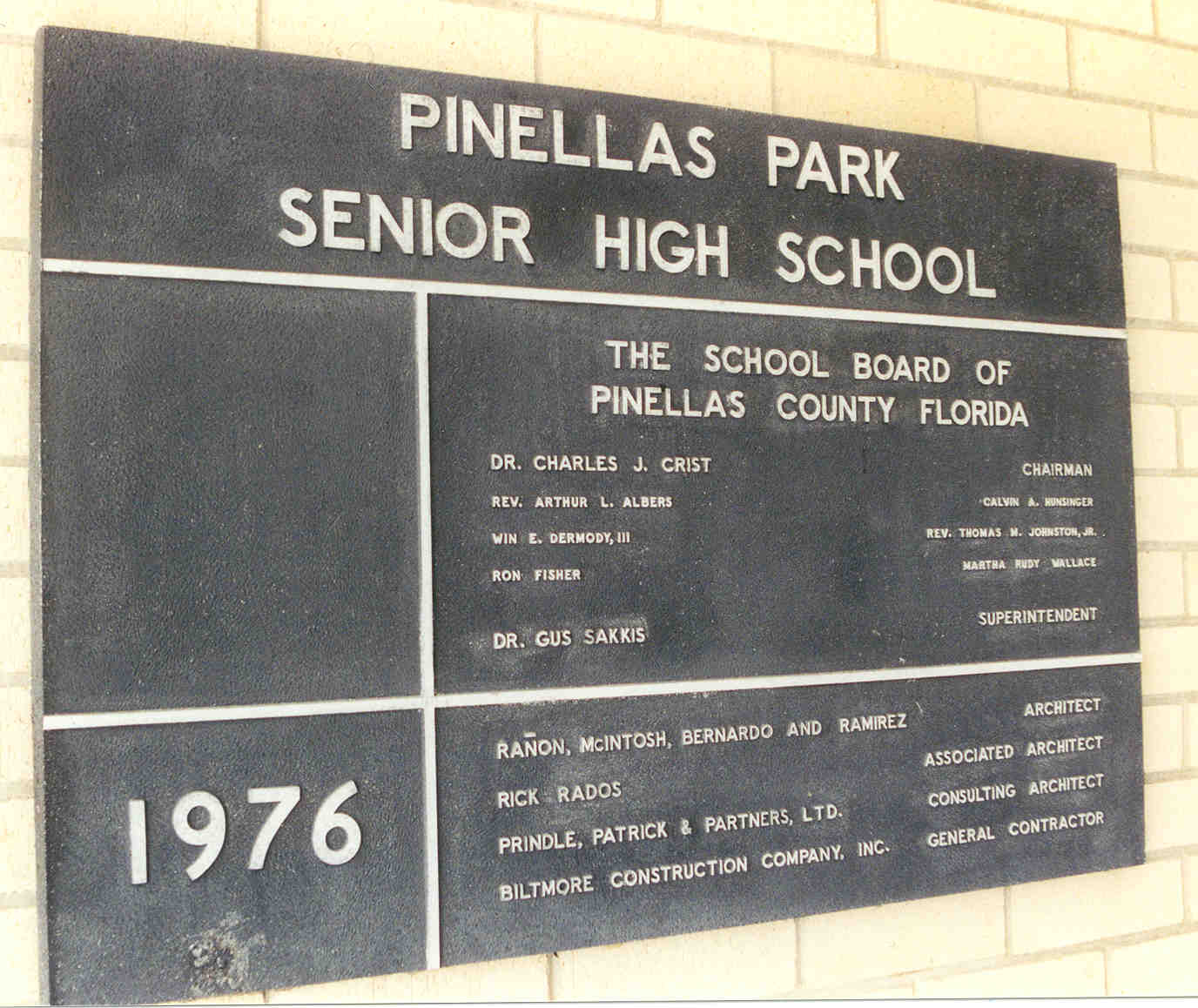 PPHS Black Plaque