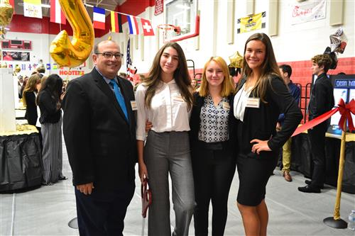 students and teacher at the annual career fair