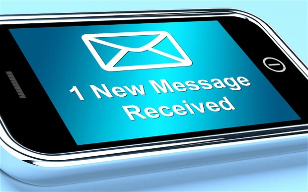 Text messages now available