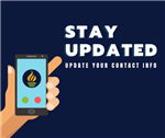 Stay updated by updating your contact information