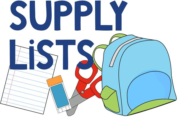 Supply Lists Clip Art
