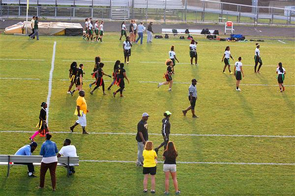 Flag football team loses to St. Pete Green Devils