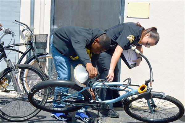 Lakewood students receive bike safety equipment