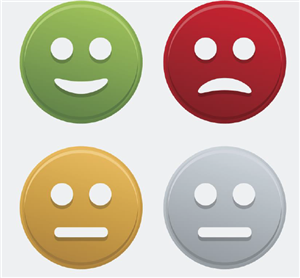 Graphics of faces: happy, sad, and not expression