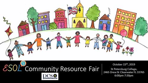 ESOL Community Resource Fair graphic