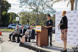 Speakers share gratitude at ribbon cutting