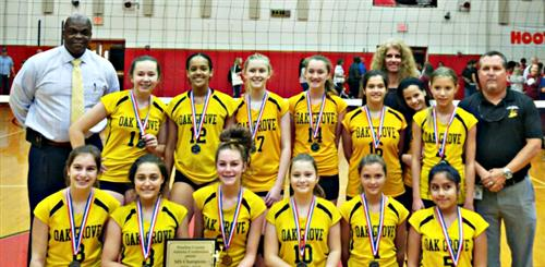 Oak Grove Middle School girls volleyball team