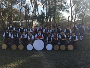 Dunedin Highland Middle School's pipe band