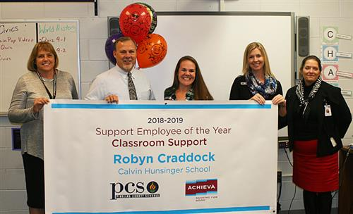 Robyn Craddock was named a Support Employee of the Year in the Classroom Support category.