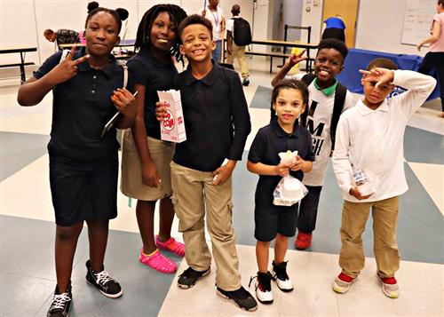 Campbell Park Elementary students attend Community School showcase.