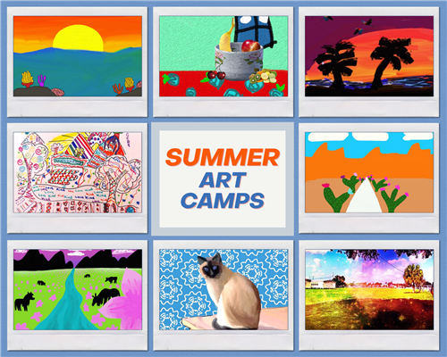 Summer Art Camps Collage