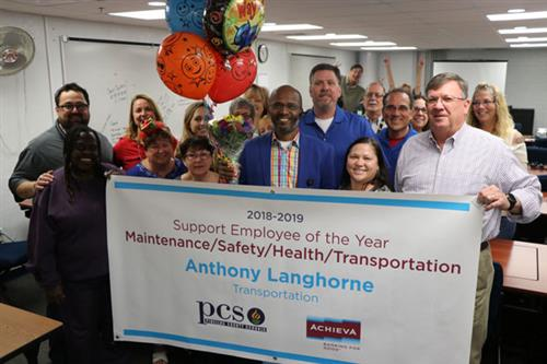 Anthony Langhorne was named a Support Employee of the Year in the Maintenance, Safety, Health, Transportation category.