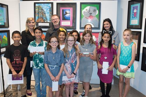 Students at the Word & Image Exhibit