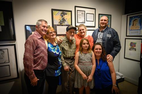 Osceola Middle School student and her family- four generations