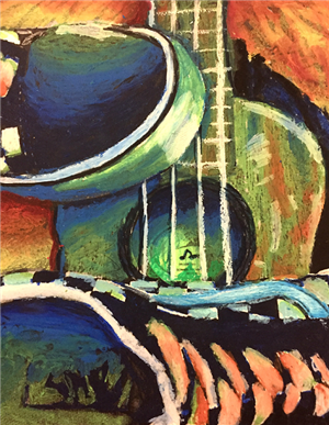 Madison Cyr of Safety Harbor Middle School was the Middle School Winner for her oil pastel titled Steps & Tunes.