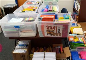 Stuff the bus school supplies