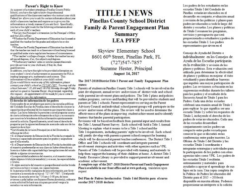 Title 1 News