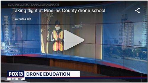 Azalea Middle drone program makes the evening news