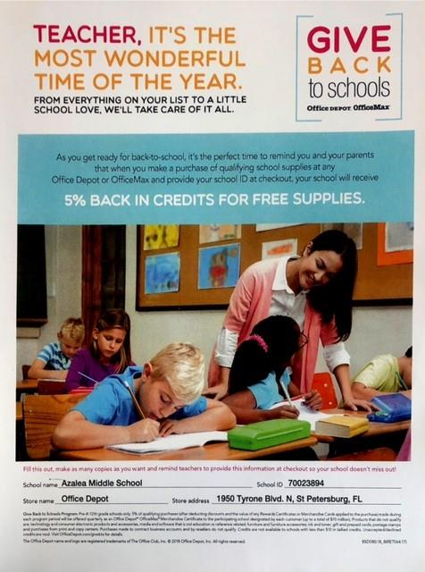 Office Depot Gives Back To Schools