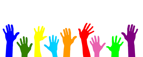 raised helping hands clipart