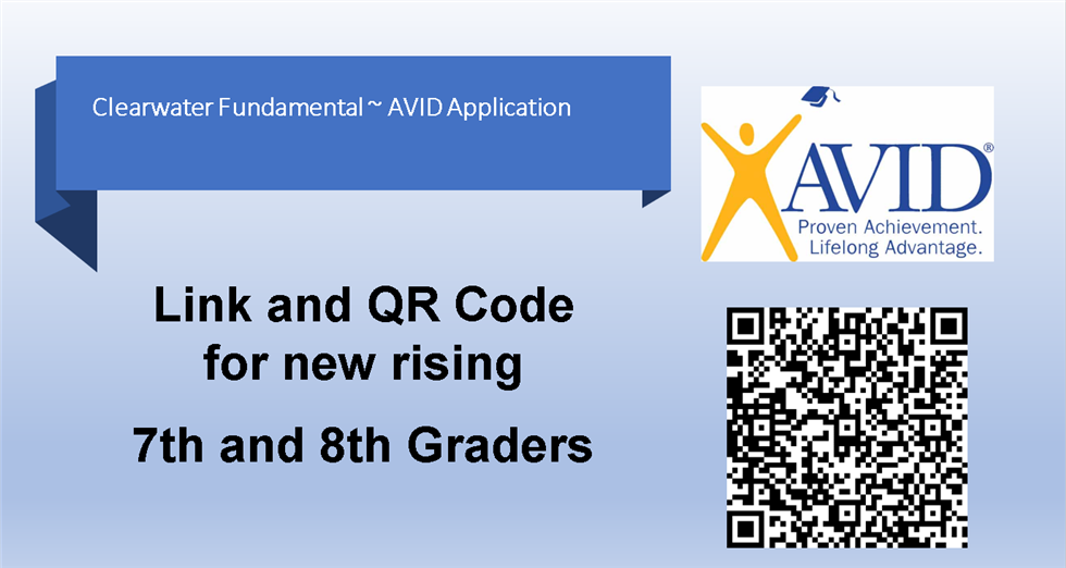 AVID application for rising 7th and 8th graders