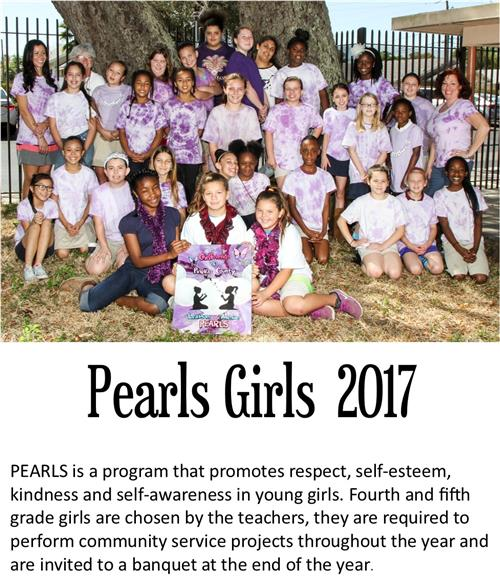 PEARLS is a program that promotes respect, self-esteem, kindness and self-awareness in young girls.